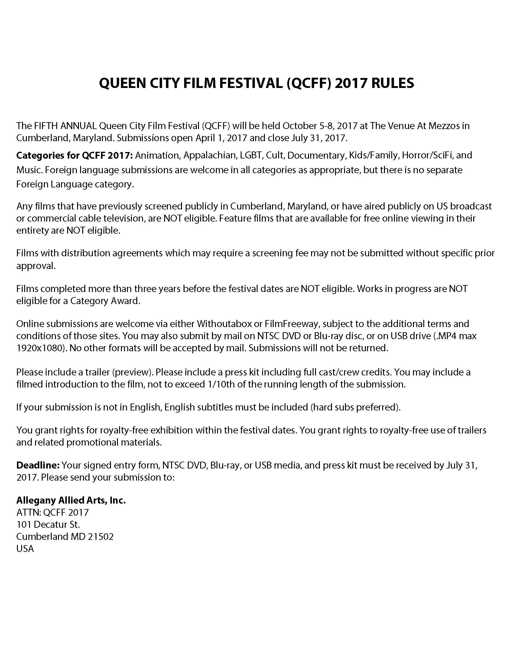 Qcff allegany allied arts inc pdf copy of the qcff 2017 rules buycottarizona